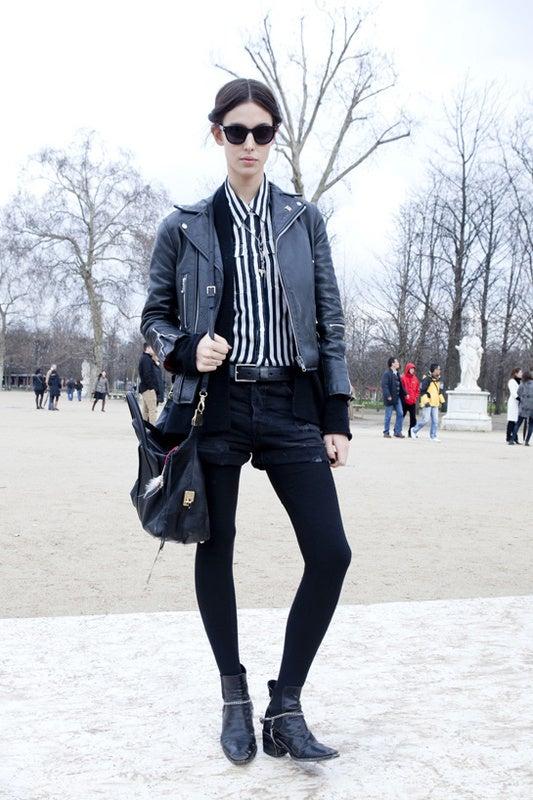 ロックスタイルはかっこいい女子のお手本◎ 黒の皮ジャンに惚れます