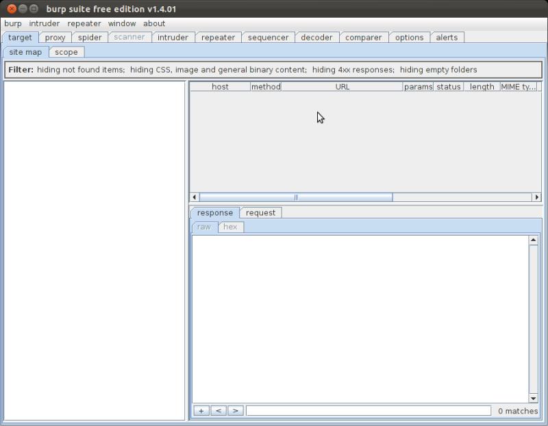 サイバーエージェント 公式エンジニアブログ-burp suite が起動した画面
