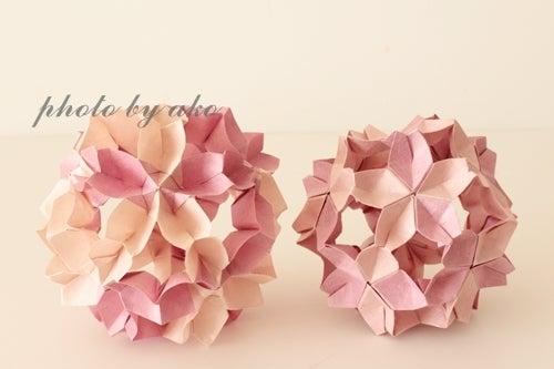 ハート 折り紙:折り紙桜立体作り方-divulgando.net