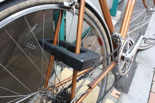 自転車の 上野 自転車 ハクセン : こんな感じで自転車にロックを ...