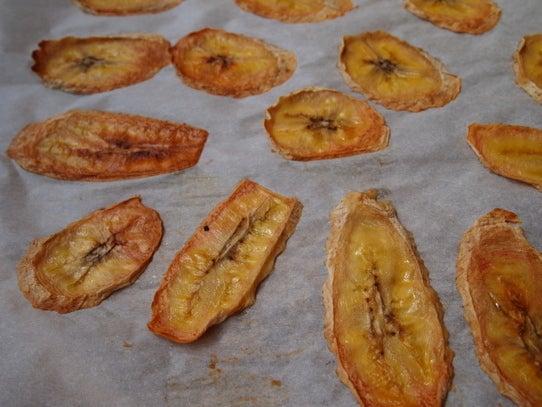 長澤家のレシピブログ in八王子-バナナチップスの作り方の画像