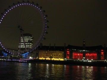 ロンドンアイの夜景