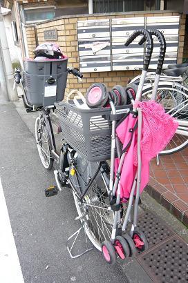 自転車の 1歳 自転車 後ろ : 自転車にバギーを乗せて|naoの ...