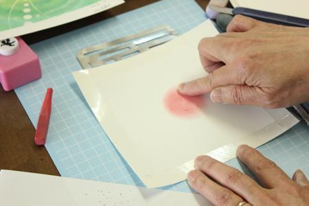 para lucirse(パラルシルセ)京都寺町雑貨屋 手作りブログ指でくるくるパステル和アート体験!コメント