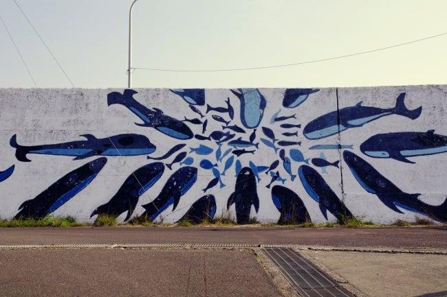 四国高知のうどん屋いろりや9640ブログ~黒潮町LOVEな毎日をお届け~-クジラの壁画