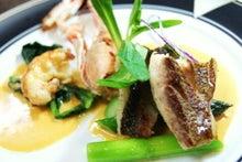 食べて飲んで観て読んだコト+レストラン・カザマ-手長海老のポワレ