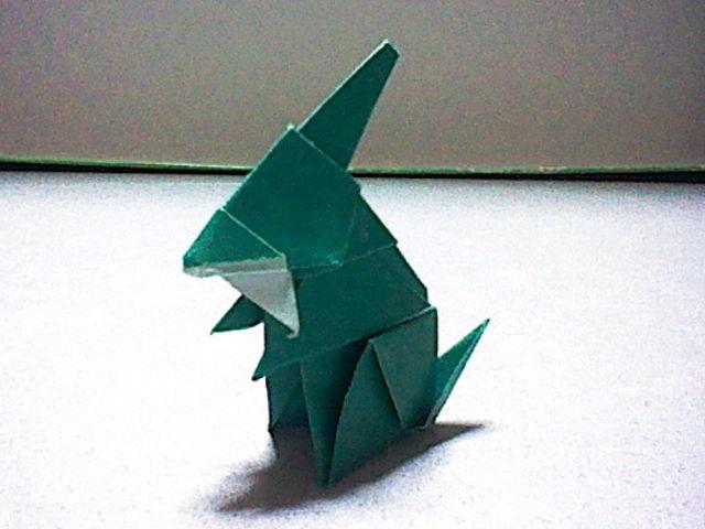 すべての折り紙 折り紙 ポケモン 折り方 : キバゴ 折り紙でフィギュア