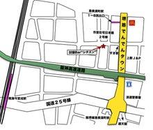 $討論Bar'シチズン'への道-地図