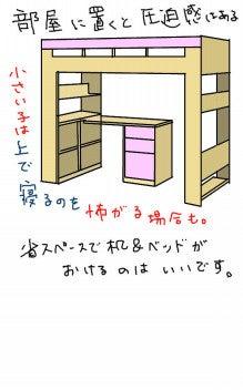 $子供部屋の整理について(2段ベッド・システムベッドデスクなど)-ロフトベッドデスク