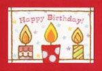 和紙はり絵カード作家 izumi tsubomatsu-birthday