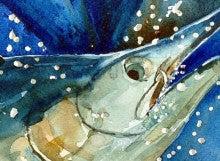 海の水彩画