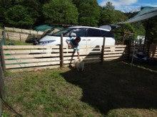 楽園管理人アツシの絵日記-犬連れで、いっしょに宿泊、同伴キャンプ04
