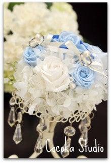 17_純白とブルーのリングピロー2