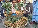 宏子のバングラデシュ生活のブログ-ライチ売り