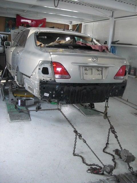 京都の女職人が書く車のブログ☆★-クラウン 事故