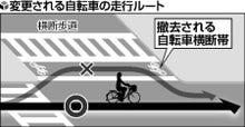 自転車の 自転車 都内 : 都内自転車横断帯、撤去|日刊 ...