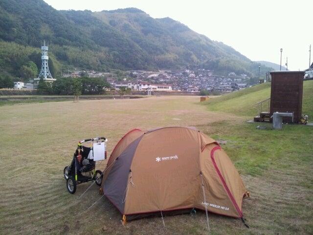 歩き人ふみの徒歩世界旅行 日本・台湾編-小瀬川河川敷