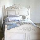 【シングルベッド:フレームのみ】ベッド/ベット/シングルベッド/姫/アンティーク木製/ホワイト/白/家具121042 ホワイト家具 ロマンチック