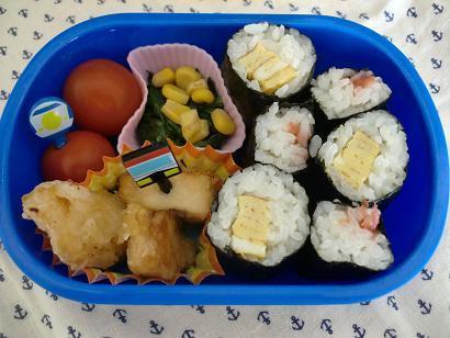幼稚園男児のお弁当とハンドメイド作品-20120531-2