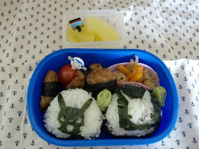 幼稚園男児のお弁当とハンドメイド作品-20120529-1