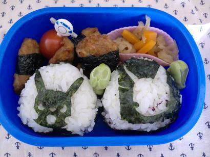 幼稚園男児のお弁当とハンドメイド作品-20120529-2