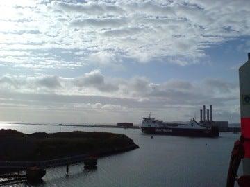 ダブリン港に到着
