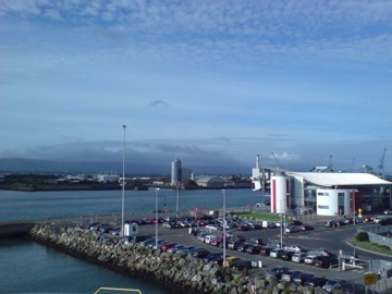 ダブリン港を出航