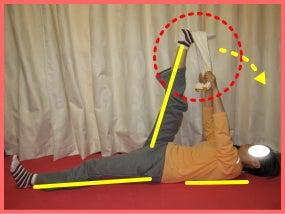 アンチエイジングが自宅で簡単に実践できるブログ-太もも裏の緊張を取る体操