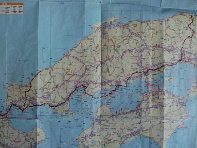 $歩き人ふみの徒歩世界旅行 日本・台湾編-中国地方歩き旅ルート図