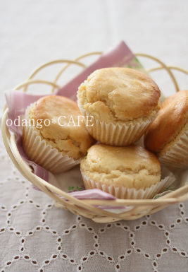 みるまゆオフィシャルブログ「おだんごカフェ@体に優しいナチュラルレシピ」Powered by Ameba-レモン風味♪米粉の塩麹カップケーキ
