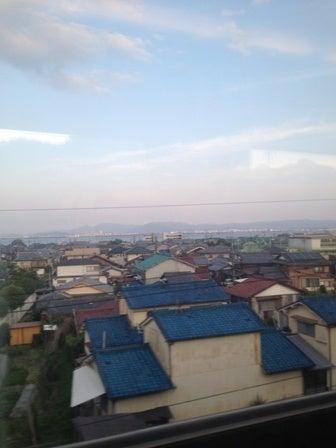 車窓から琵琶湖