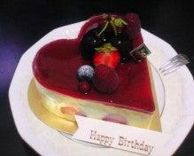 遥香の近況日記-ハートの誕生日ケーキ1