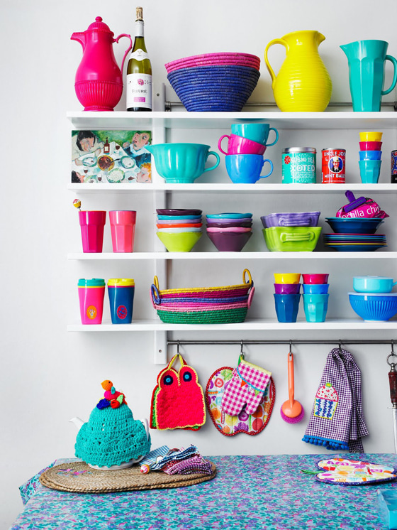 Colorful Kitchen Supplies: 北欧デンマークのカラフル!ブランド【riceライス】のインテリア54|賃貸マンションで海外インテリア風を目指すDIY