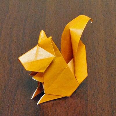 簡単 折り紙:りす 折り紙-ameblo.jp