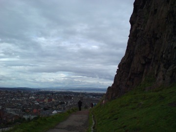 丘からの市街風景