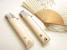 OXIO-CRAFT(オキクラ)の「革雑貨」製作日記-扇子カバー