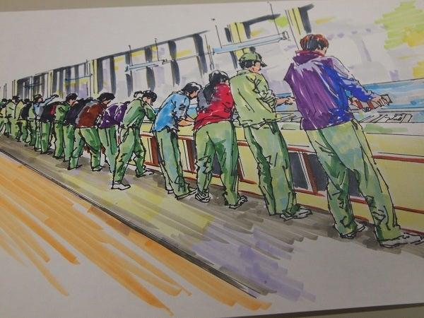 $上松技術専門校 木工ブログ2012-長野県上松技術専門校の研ぎ場風景