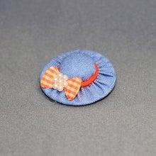 モルモットの帽子(ブルー:オレンジリボン)