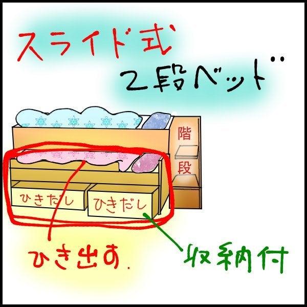 $子供部屋の整理について(2段ベッド・システムベッドデスクなど)-ベルーナスライドベッド