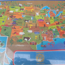 アメリカ地図パズル