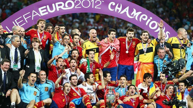 EURO2012 スペイン 優勝