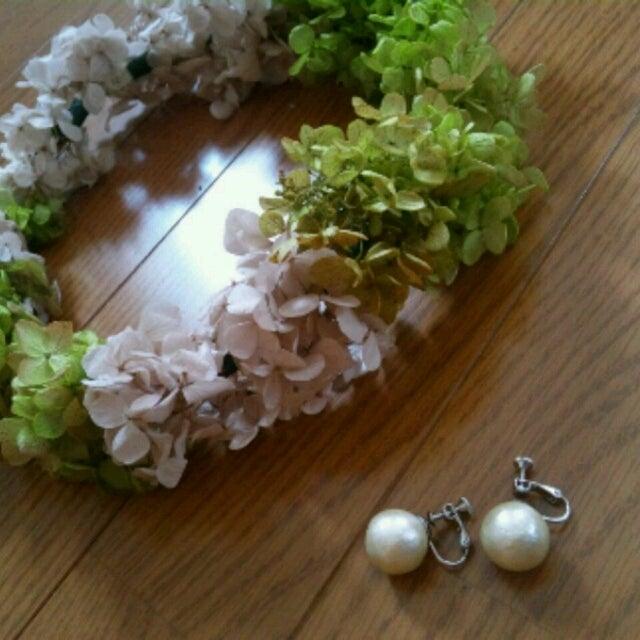 ブライダル ブライダルシューズ ブログ : 手作り花冠とコットンパールの ...