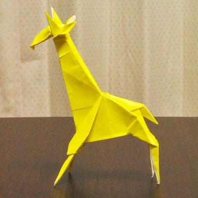 簡単 折り紙:折り紙 キリン-ameblo.jp