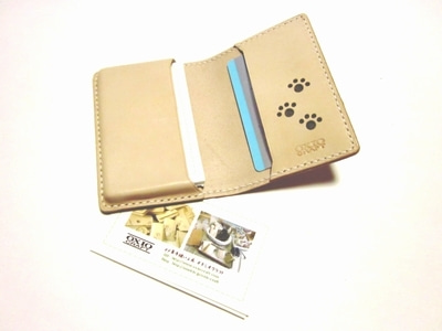 OXIO-CRAFT(オキクラ)の「革雑貨」製作日記-肉球名刺ケース