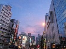 新宿の夕日