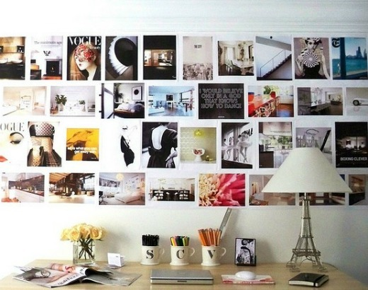 たくさんの額や写真でおしゃれにインテリアを飾るアイデア
