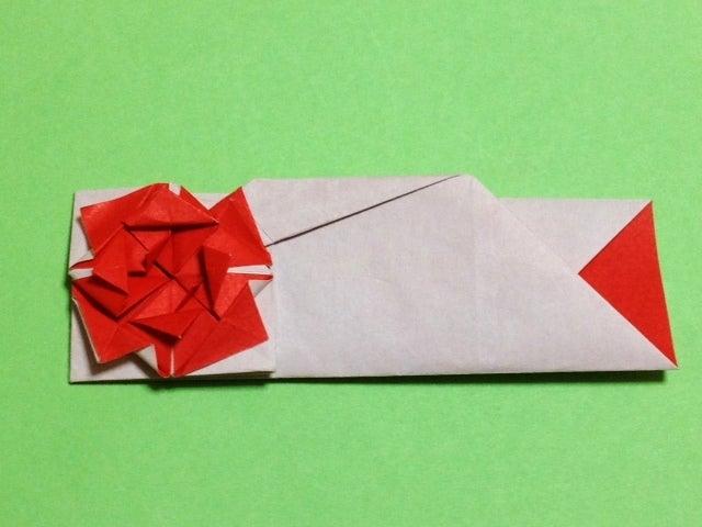 すべての折り紙 折り紙 箱 正方形 : バラの箸袋 折り紙で箸袋 ...