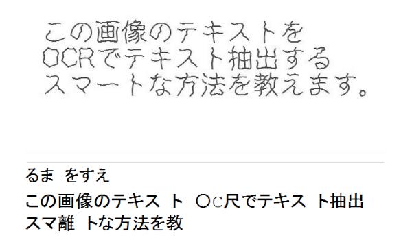 佐渡の洋食屋店長のブログ-OCRの結果