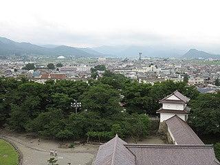 晴れのち曇り時々Ameブロ-天守閣からの眺め(鶴ヶ城)