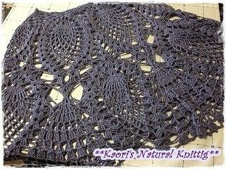 かおりのNatural Knitting-パイナップル模様のポンチョ-03